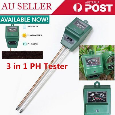 3 in 1 PH Tester Soil Water Moisture Light Test Meter for Garden Plant Flower DS