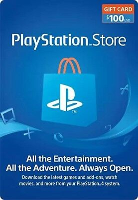 $100 USD PlayStation Network Store PSN Card - Digital or Physical Delivery