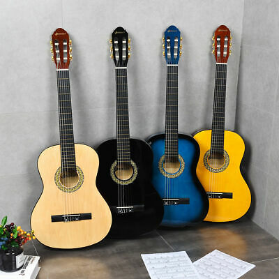 """Sonart 39"""" Full Size Classical Guitar 6 String w/Bag Pick Strings Cleaning Cloth"""