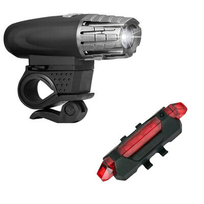 Rechargeable USB Warning Bike Bicycle Light LED Waterproof Front Rear Tail Lamp