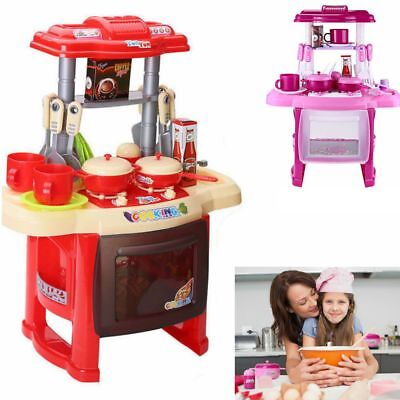 Large Small Kids Childrens Kitchen Play Set Food Cooker Pans Plastic Toy Gift Uk
