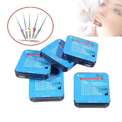 5 Pack Dental Endodontic Treatment NiTi Files Engine Use 25mm 6 Model CICADA