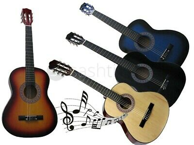 "3/4 Size 36"" Acoustic Guitar For Students Adult Beginners 6 Nylon Strings Music"