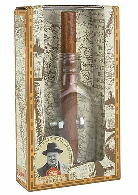 Professor Puzzle GREAT MINDS CHURCHILLS CIGAR and WHISKEY BOTTLE PUZZLE