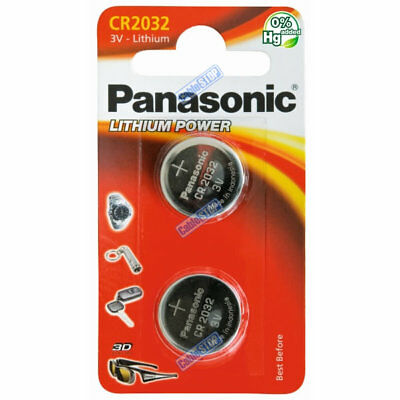 2x PANASONIC CR2032 3V Lithium Battery EXP 2028 Coin Cell DL2032 for Car Key Fob