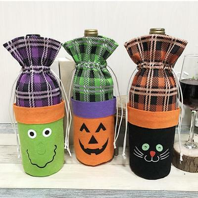 Halloween Wine Bottle Bag Cover Candy Stack Bag Set Pumpkin Witch Cover Decora