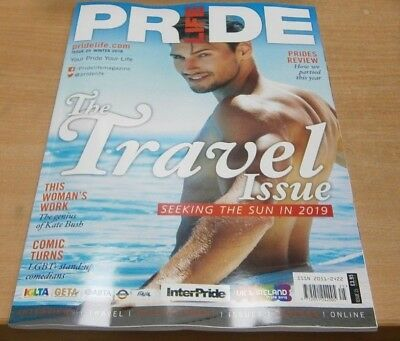 Pride Life magazine #25 Winter 2018 The Travel Issue + Kate Bush, LGBT Stand-up