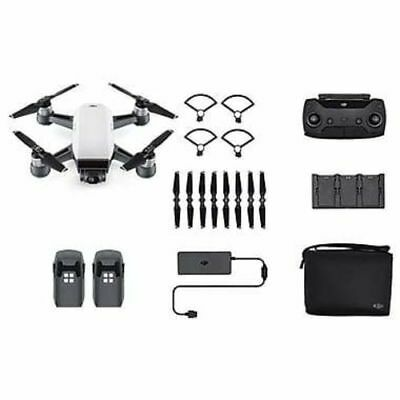 DJI Spark Quadcopter Selfie Drone Fly More Combo, Alpine White