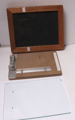 "Condit 10x12"" Pin Register Reg Glass Print Frame Contact Easel w/Punch USED F29"