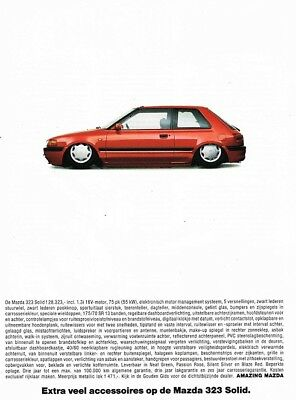 1993 Mazda 323 Solid (Dutch, 1pg.) Advertisement (AAE.643)