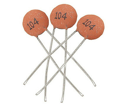 Stable 100pcs/bag Ceramic Disc Capacitors 50V 100nF 0.1uF 104p PMA