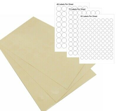 Clear Round Stickers Sticky Adhesive Labels on a Sheet 19/25/30mm Gift Packing
