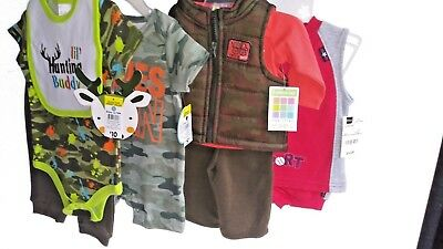 Mixed Brand Lot Of 4  Boys Baby Clothes Size Newborn To 3-6 Mos New With Tags