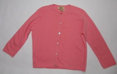 HADLEY 100% Cashmere Vtg 50s Pink Cardigan Sweater M