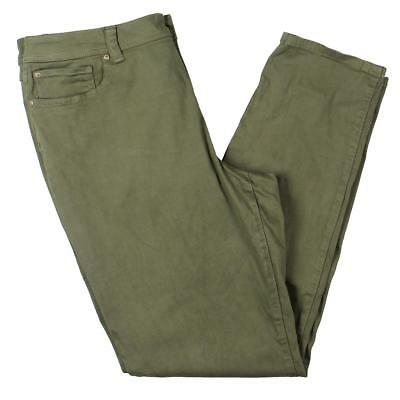 INC Womens Green Cropped Regular Fit Pull On Skinny Pants Petites 8P BHFO 3371