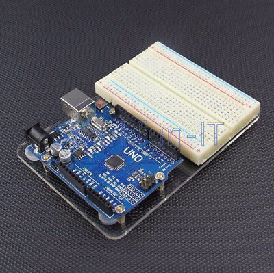 Universal Arduino UNO R3 Experimental Platform Transparent Clear Acrylic Board T