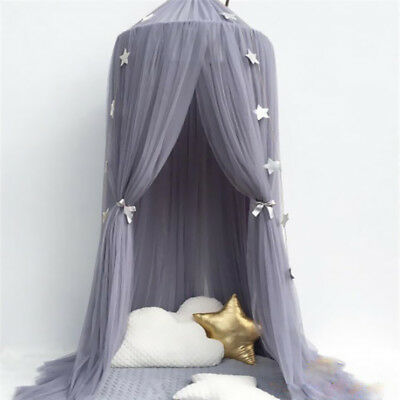 Kids Baby Bedcover Bed Canopy Mosquito Net Tent Yarn Curtain Bedding Dome #E