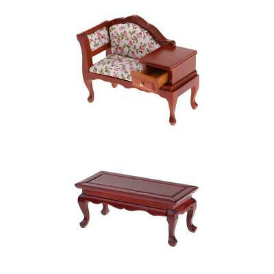 1:12 Dollhouse Miniature Coffee Table Living Room Furniture Doll House Red Y7B0