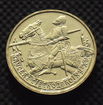 COIN OF POLAND - HISTORY OF POLISH CAVALRY 15th CENTURY MOUNTED KNIGHT (MINT)