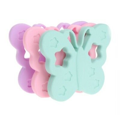 Kawaii Silicone Butterfly Baby Teether Pacifier Pendant Teething Gum Chew Toy LS