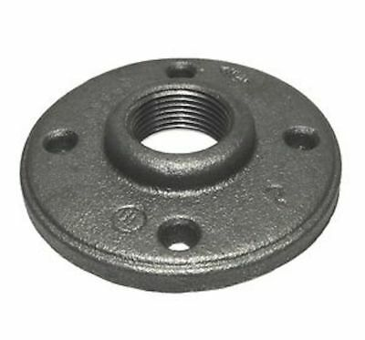 "3/4"" Black Malleable Iron Pipe Threaded Floor Flange Fitting"