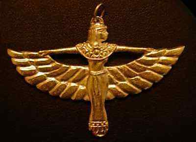 LOOK Isis Celtic Charm Pendant Lady of Heaven Gold Plated