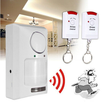 Wireless Pir Motion Sensor Alarm   2 Remote Controls Shed Home Garage Caravan