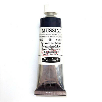 Schmincke MUSSINI Resin Oil Painting Colours 35ml - 495 Byzantine blue