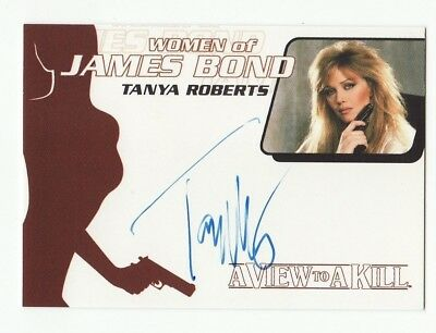 Tanya Roberts As Stacey Sutton Women Of James Bond Auto Autograph #wa29