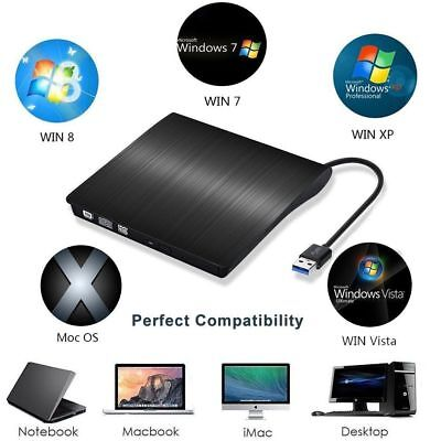 USB 3.0 Extern CD-RW DVD±RW Brenner Slim Laufwerk Portable Brenner LAPTOP Videos