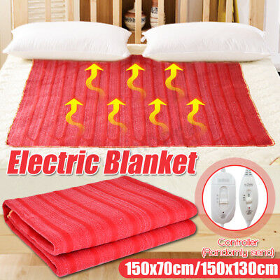 220V Electric Heating Blanket Flannel Soft Winter Warming Warm Heated Pad Home
