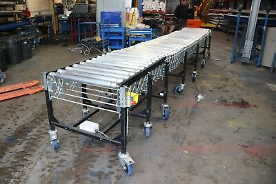 Powered Expanding Roller Conveyor 5750mm Open (19ft) x 750mm Wide INC VAT