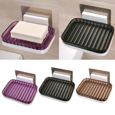 Soap Rack Holder Self Adhesive Tray Dish Shower Bathroom Sink Toilet Supply