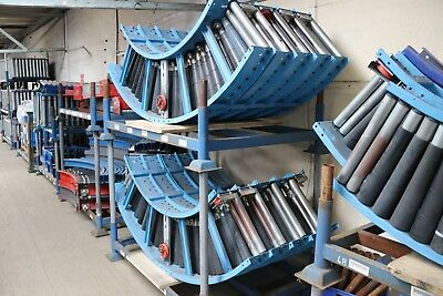 Gravity Roller Conveyor Curve 90 Degree Bends 410W INC VAT