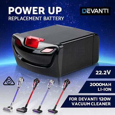 DEVANTi Replacement 2000mAH Li-ion Battery Pack - For 120W Stick Vacuum Cleaner