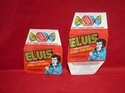1978 ELVIS COLLECTORS SERIES BUBBLE GUM CARDS WAX WRAPPERS x 2 EMPTY VGC DONRUSS