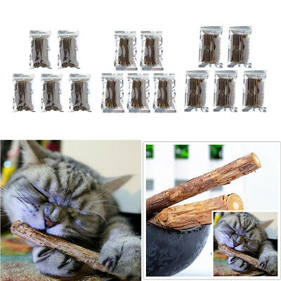 5 Pack Cute Cat Stick Chew Toy Health Kitten Brush Teeth Pet Treat Grinding