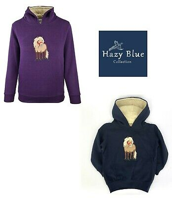 Hazy Blue Boys / Girls Horse Design Childrens Hooded Fleece Sweatshirt