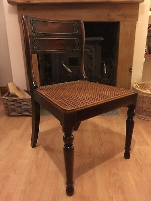 Late Georgian / Regency Antique / Vintage Chair Stamped John Gee, Royal Interest