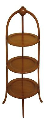 L46446EC: BIGGS Inlaid Mahogany 3 Tier Muffin Stand