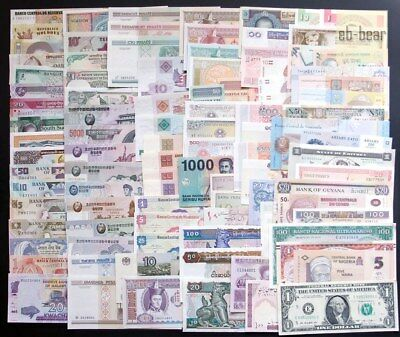 Lots 50 Countries 100 Paper Money World Banknotes UNC Collection Extremely Fine