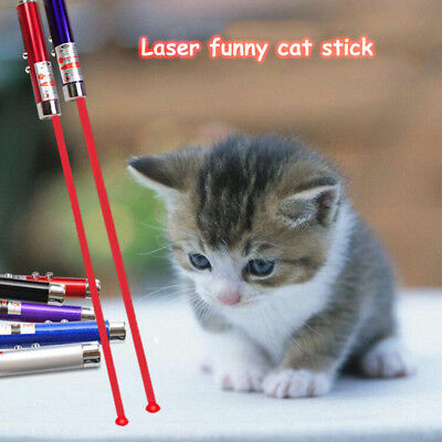 Funny 2in1 Laser LED Pointer Pen For Cat Cats Light Torch Cat Dog Stick Toys UK