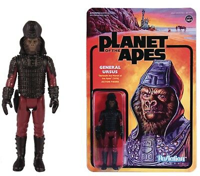 SUPER 7 PLANET OF THE APES  GENERAL URSUS 3.75 inch REACTION FIGURE NEW