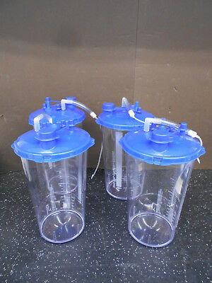 25b0080e19b5 Lot Of 4 Cardinal Health Medi-Vac Guardian 3000Ml Suction Canister With Lid