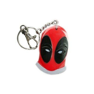 Deadpool Face Bendable Keychain Red