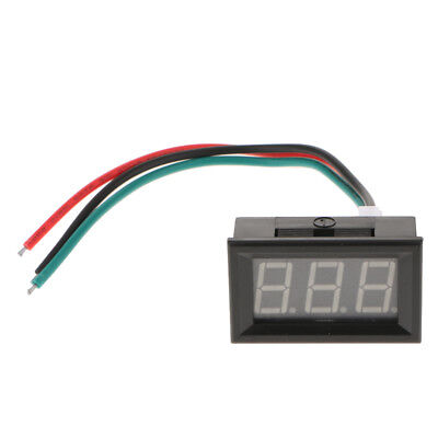"""Panel Digital Voltmeter with 0.56"""" LED Display for Car DC4-28V 0-10A 3 Wire"""