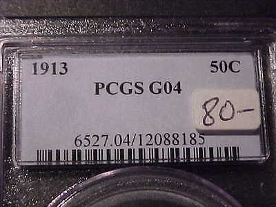 PCGS G-4 1913-p  Barber Half Dollar   Nice Full Rims  #2