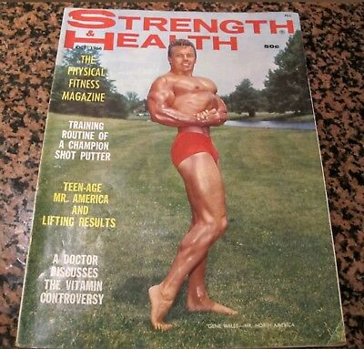 Vintage Strength & Health Bodybuilding Magazine Oct 1966 Gene Wells Coverman
