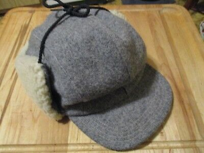 6f0ad3b7cd954 Vintage Genuine C.c. Filson Co. Garment Seattle Extra Large Wool Charcoal  Hat