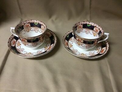 2 Colclough England Cups and Saucers --- #2434